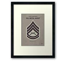 No030 My Full Metal Jacket minimal movie poster Framed Print