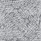 white floral pattern on gray by demonique