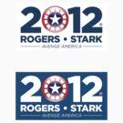 Vote Rogers & Stark 2012 (Sticker 2-Pack) by Eozen