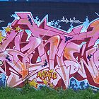 World street graffiti - pink by grafhunter