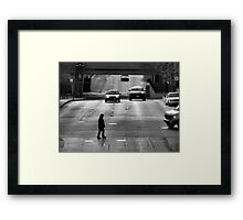 Trapped on the Street Framed Print
