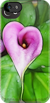 calla lily iPhone case by vigor