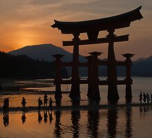 Itsukushima Shrine: Just after Sunset by DTBPhotography