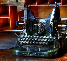 Vintage Oliver Typewriter by Bob Christopher