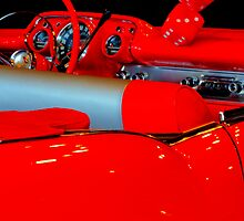 Chevrolet Beauty In Red by Bob Christopher