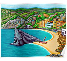 Colours of Monterosso Poster