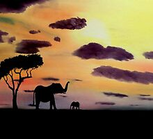 African Evening by RalstonFineArt