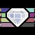 Pixel White Diamond | Community by Mark Quimoyog
