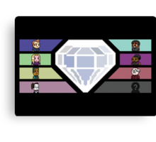 Pixel White Diamond | Community Canvas Print