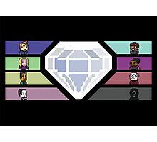 Pixel White Diamond | Community Photographic Print