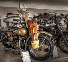 1942 Harley Davidson WLA  by Rosalie Dale