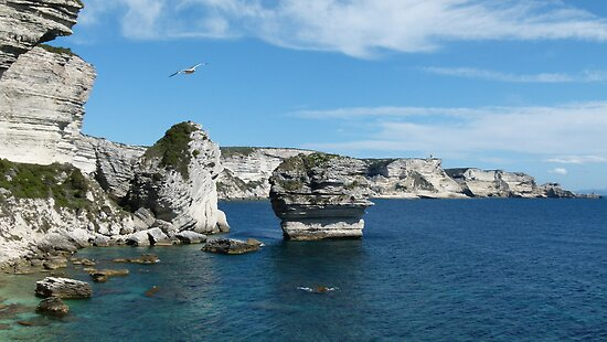 Corsican Cliffs by Trish Meyer
