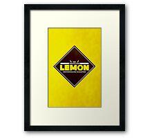 The Travelling Lemon Framed Print