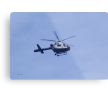 Police Helicopter Metal Print