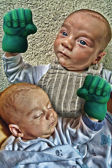 Hands of the Hulk on Babies by GolemAura