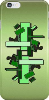 Pattern in Greens .. iphone case by LoneAngel