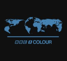 Retro BBC 1 Colour globe graphics by unloveablesteve