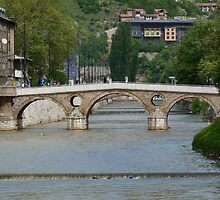 The Latin Bridge in Sarajevo by HELUA
