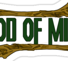 the god of mischief /2/ in green Sticker