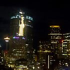 Calgary at night by Darren Langlois