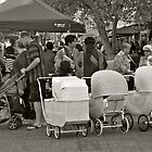 crowd with vintage prams by Evelyn Bach