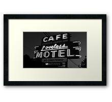 Loveless Cafe Framed Print
