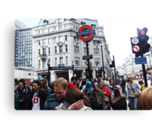 Oxford Circus Station Canvas Print