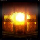 Sunset through the church window by Jenny Clift