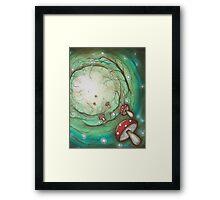 Mushroom Time Travel Framed Print