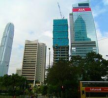 Hong Kong Skyscrapers by cadellin