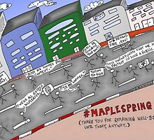Bianry Options News Cartoon of Maple Spring  by Binary-Options