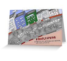 Bianry Options News Cartoon of Maple Spring  Greeting Card