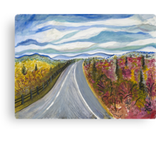 Road to Charlottesville Canvas Print