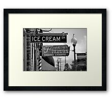 Small Town Ambience Framed Print