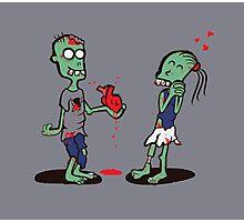 Zombie Love Photographic Print