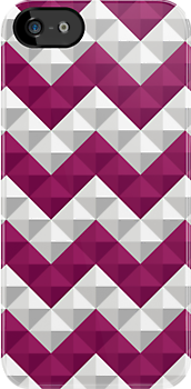 Purple and white triangles pattern by ashkenazigal