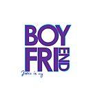 Justin Is My Boyfriend (Blue & Purple) by ElleeDesigns