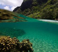 Over Under Ke'e Beach by thatche2