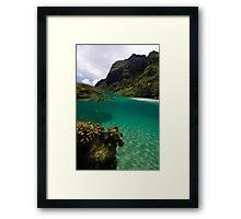 Over Under Ke'e Beach Framed Print