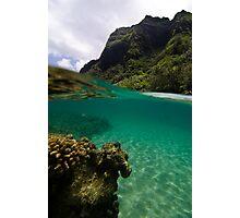 Over Under Ke'e Beach Photographic Print