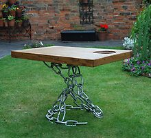 CROFT HOUSE FURNITURE ARTISAN STEVE MALLENDER - TANGLE CHAIN BASE TABLE by Tuartkatz