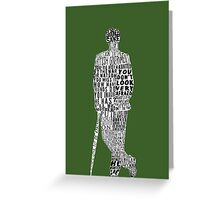 Mycroft Holmes Typography Art Greeting Card