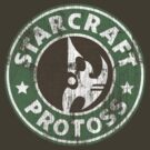 Starcraft Protoss - Washed Starbucks style  by Piwoly