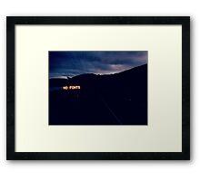 NO FONTS Framed Print