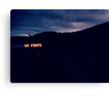 NO FONTS Canvas Print