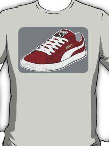 PUMA SE: BURGUNDY W/ WHITE LACES T-Shirt
