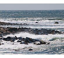 Gulls amid the Spray Photographic Print