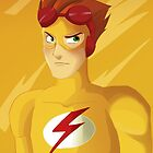 Back In A (Kid) Flash - iPhone Case by CourtoonXIII