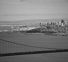 Golden Gate and downtown San Francisco by Abby Lewtas