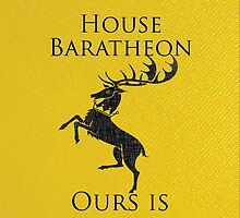 House Baratheon iPhone Case by alexandramarieg
